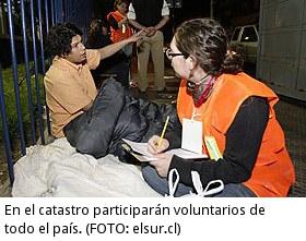 En el catastro participarán voluntarios de todo el país.