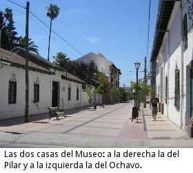 Las dos casas del Museo: a la derecha la del Pilar y a la izquierda la del Ochavo.