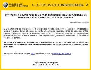 Invitación a enviar ponencias