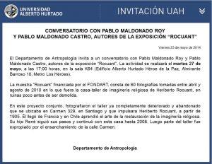 Conversatorio con Pablo Maldonado
