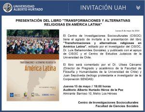 Presentación del libro Transformaciones y alternativas religiosas...