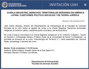 Charla Magistral Derechos Territoriales Indígenas en América