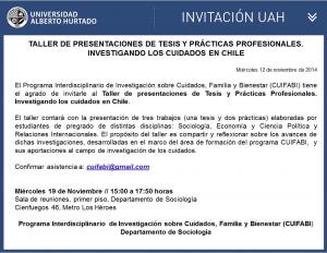 Taller de presentaciones de Tesis y Prácticas Profesionales