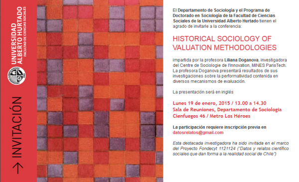 Conferencia HISTORICAL SOCIOLOGY OF VALUATION METHODOLOGIES