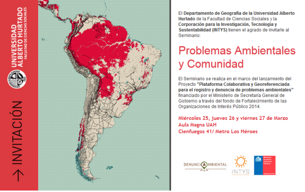 Seminario Problemas Ambientales y Comunidad