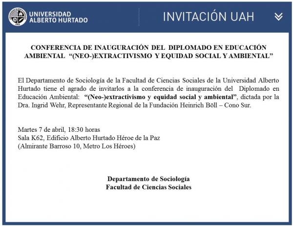 Conferencia de Inaguración del Diplomado en Educación Ambiental