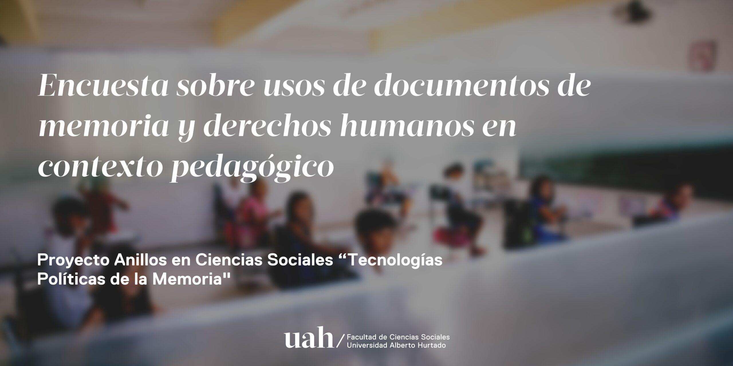 Encuesta para docentes busca conocer cómo usan los archivos de derechos humanos para enseñar a sus alumnos y alumnas