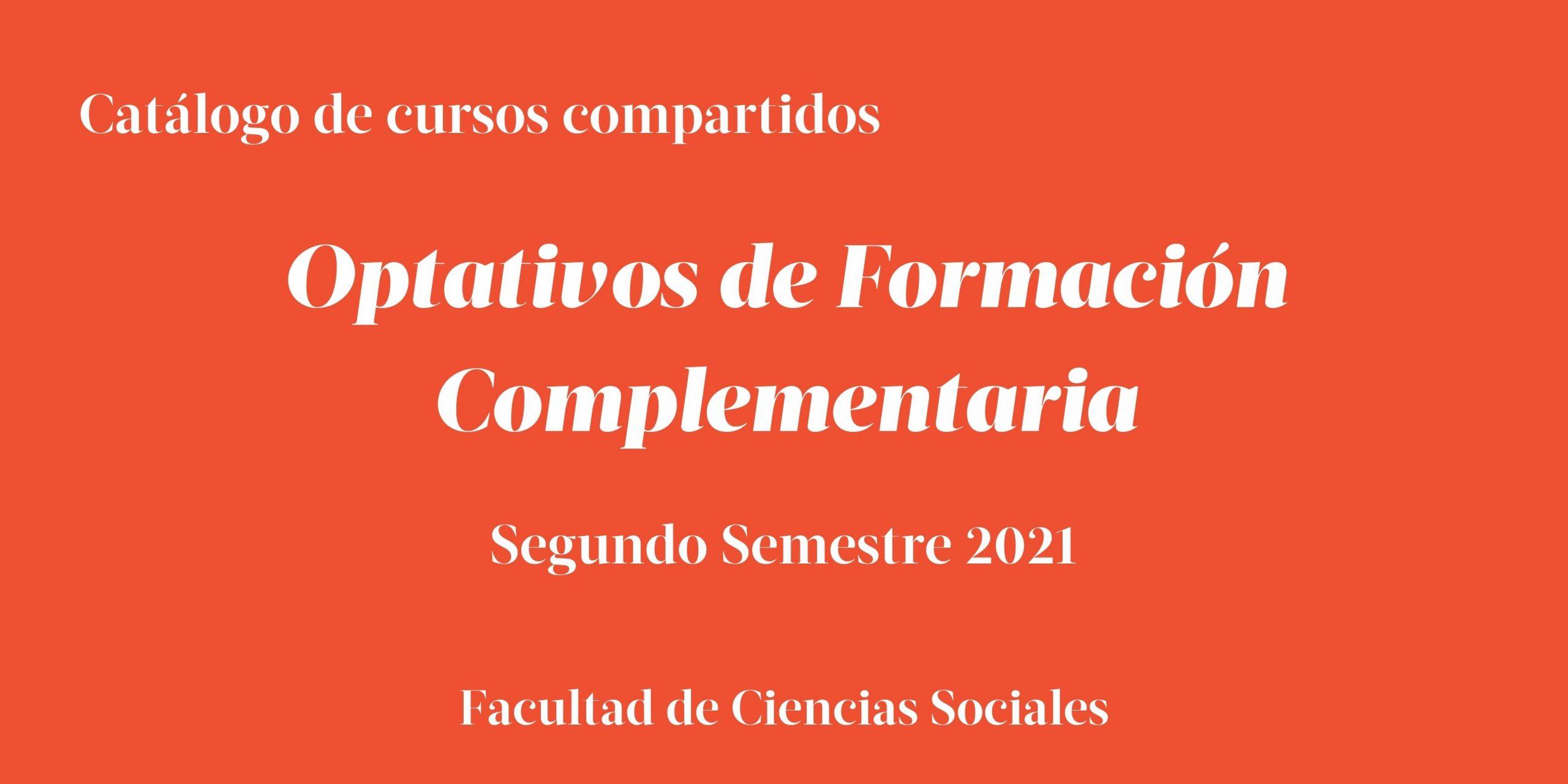 Catálogo de cursos OFC compartidos para estudiantes de FACSO   Segundo Semestre 2021