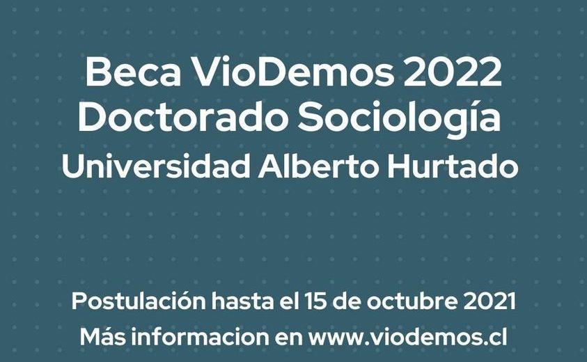 Beca VIODEMOS   Doctorado en Sociología UAH